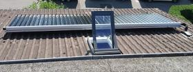 Solarkollektor auf Dach